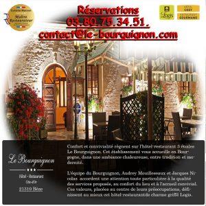 Hôtel Restaurant , le BOURGUIGNON à BEZE (21) / Réservations au 03.80.75.34.51